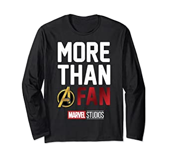 1e5695623 Image Unavailable. Image not available for. Color: Marvel Avengers More Than  A Fan 2019 Long Sleeve Tee