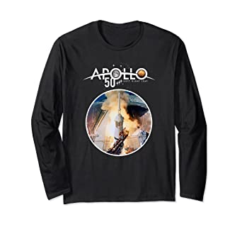 641a9b3286c2 Image Unavailable. Image not available for. Color: Apollo 50th NASA Launch  Tower Icon Long Sleeve T-Shirt