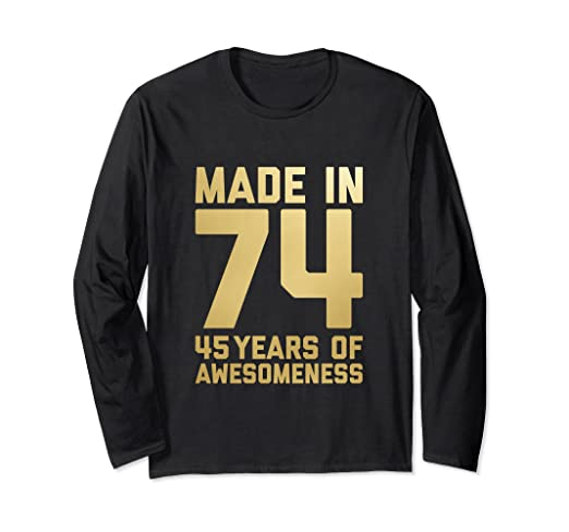 Image Unavailable Not Available For Color 45th Birthday Long Sleeve Women Gifts 45 Year Old