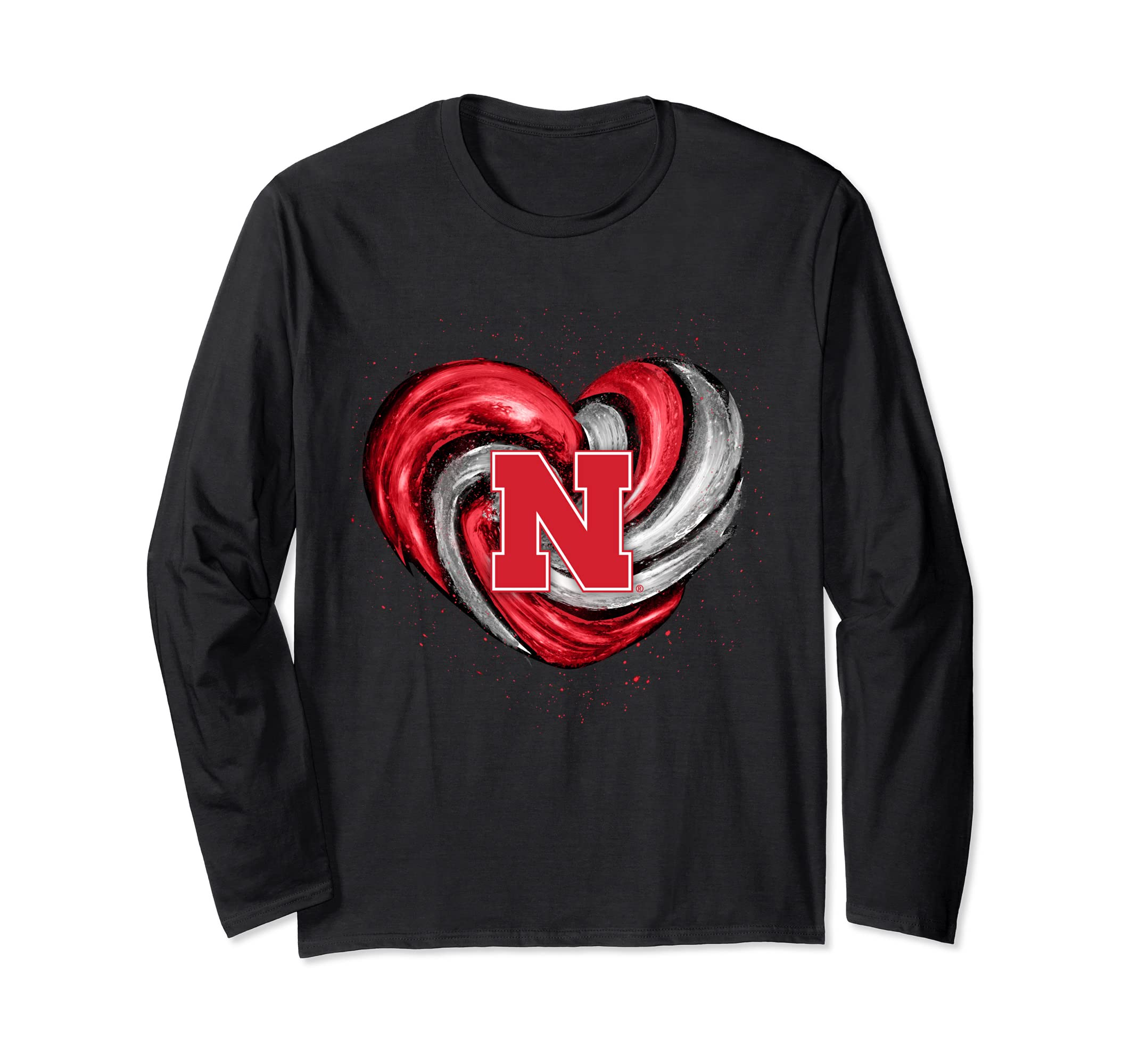 Nebraska Cornhuskers Hurricane Heart Long Sleeve T-Shirt-SFL
