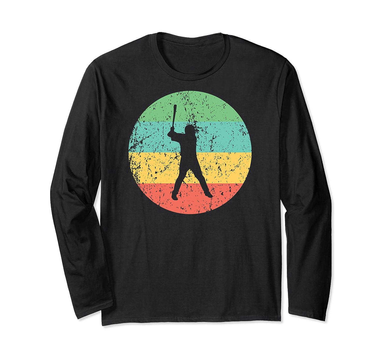 Baseball - Vintage Retro Baseball Player Shirts Long Sleeve T-shirt