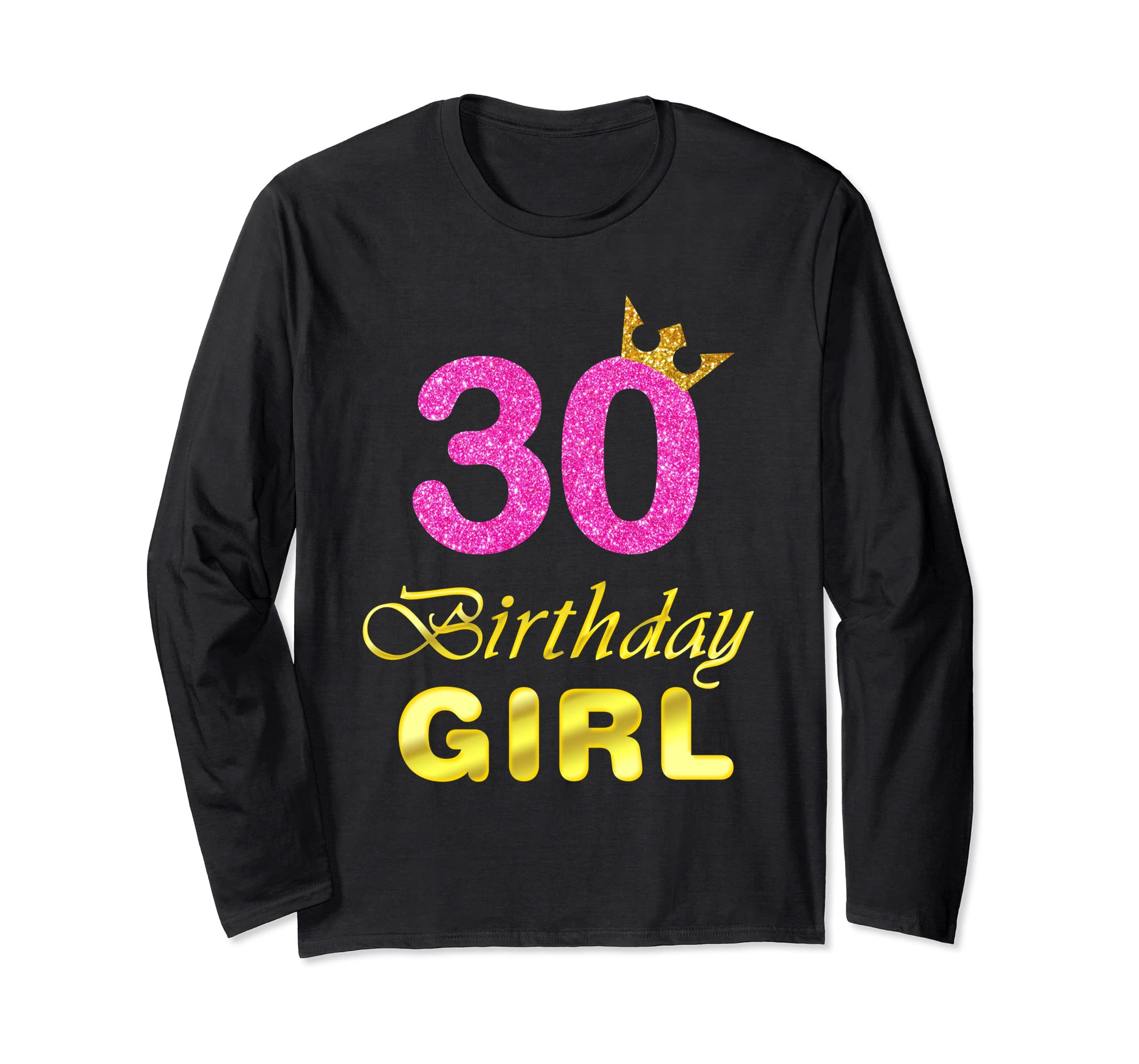 Amazon Gift For 30 Years Old Shirt 30th Golden Birthday Girl Clothing
