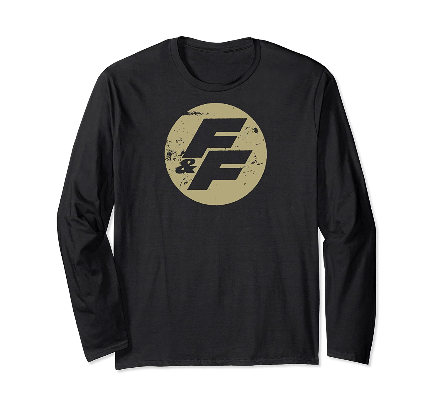 Fast Furious Distressed Beige Logo Ted Shirts Long Sleeve T-shirt