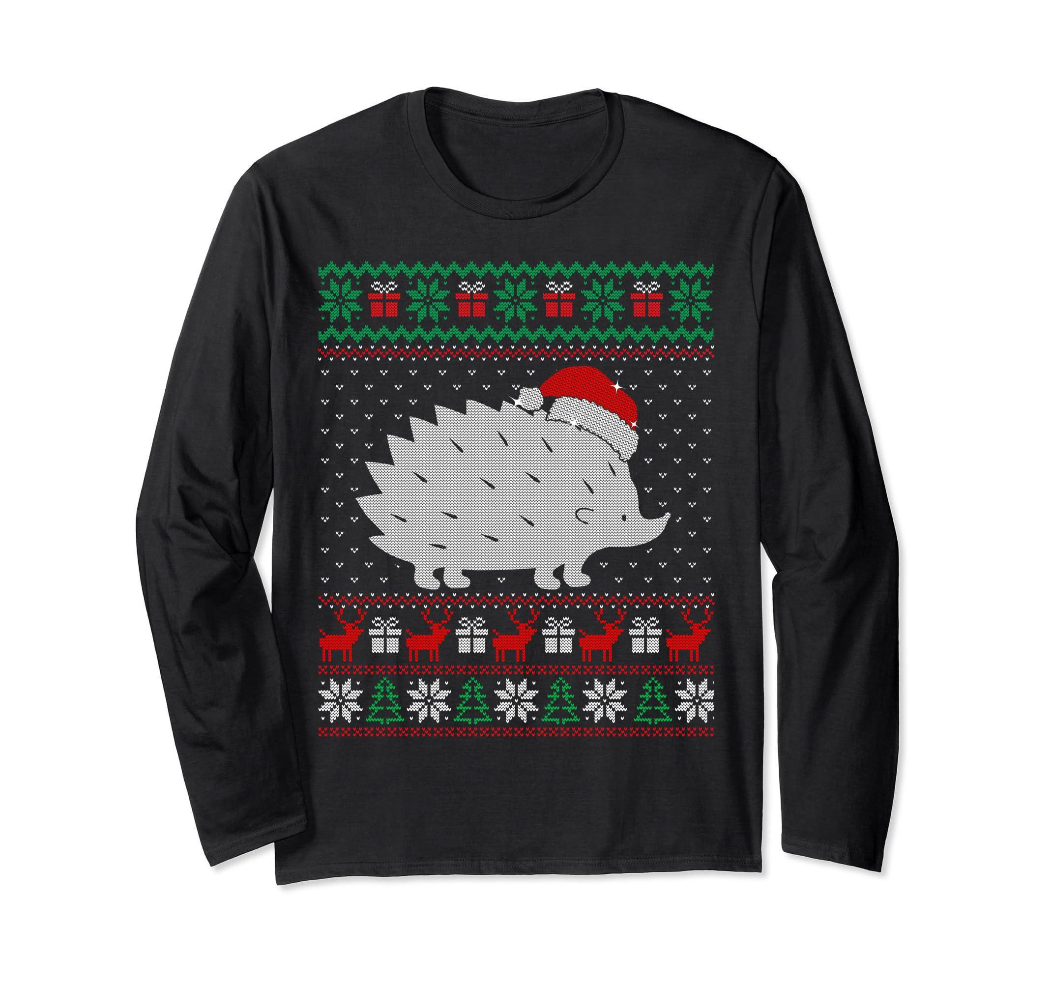 Hedgehog Christmas Jumper.Amazon Com Hedgehog Ugly Christmas Sweater Unisex Long