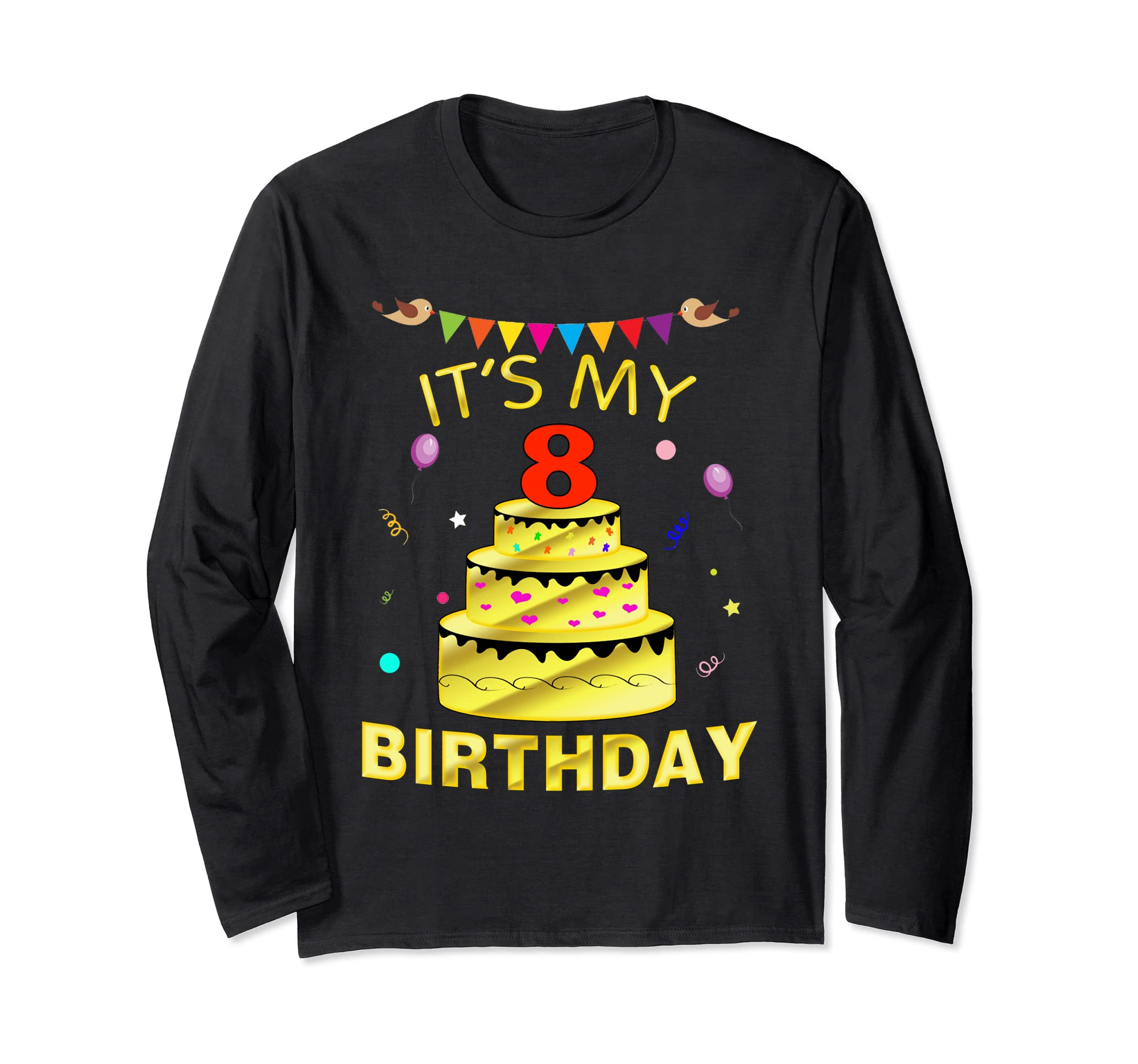 Amazon 8 Years Old Golden Its My 8th Birthday Decorations Shirt Clothing