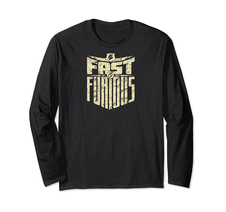 Fast Furious Cool Shield Logo Ted Shirts Long Sleeve T-shirt