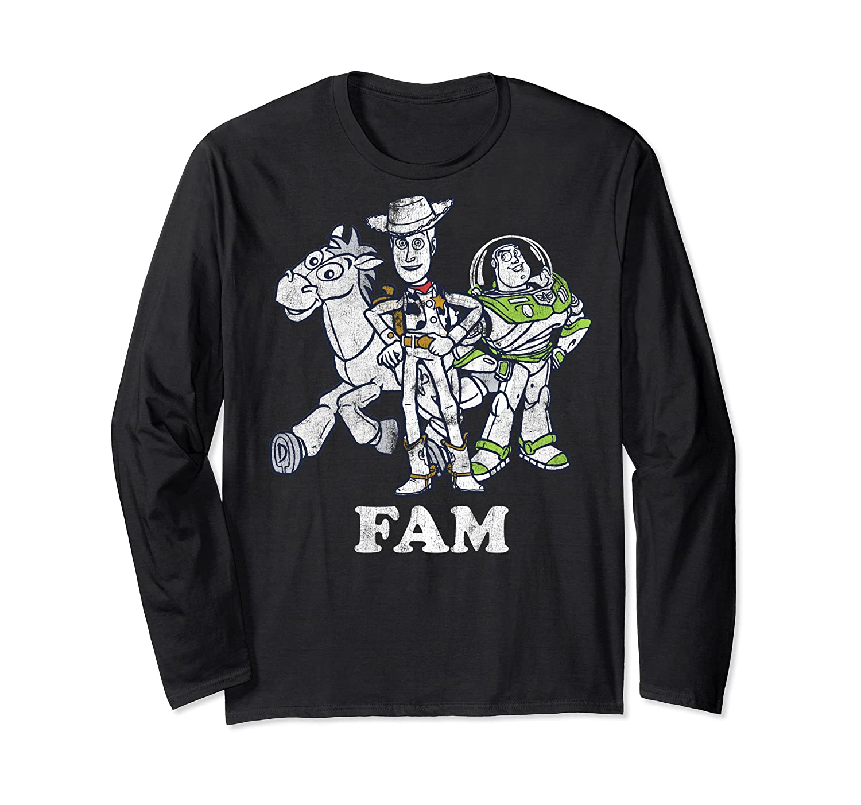 Disney Pixar Toy Story Woody Buzz Bullseye Fam Shirts Long Sleeve T-shirt
