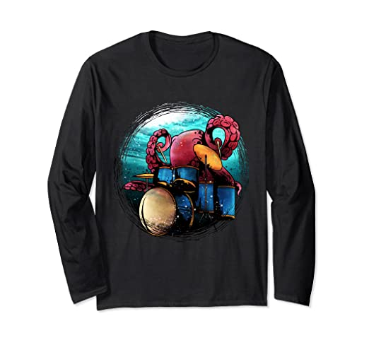 Amazon.com: Drummer Long Sleeve Shirts For Men Percussionist ...