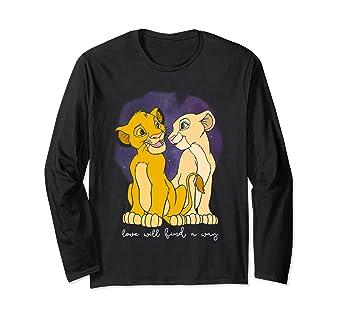 72e1b795c9d4 Amazon.com  Disney Lion King Simba Nala Love Valentine s Long Sleeve ...