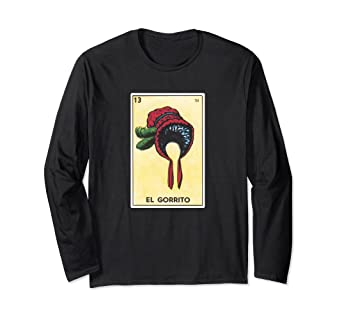 amazon com el gorrito loteria long sleeve shirt mexican bingo