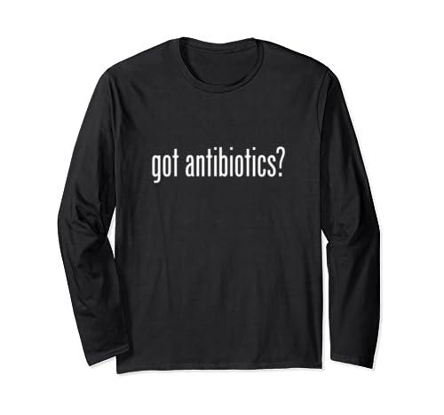 Got Antibiotics   Retro Advert Logo Parody Funny Long Sleeve T Shirt