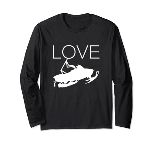 Love Snowmobiling Snowmobile Gifts For Women Girls Long Sleeve T Shirt