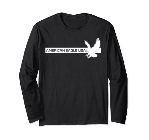 American Eagle Usa Great Gift #4 Long Sleeve T Shirt