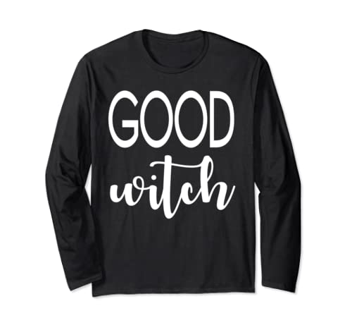 Funny Vintage Good Witch Halloween Shirt With Basic Witch Long Sleeve T Shirt