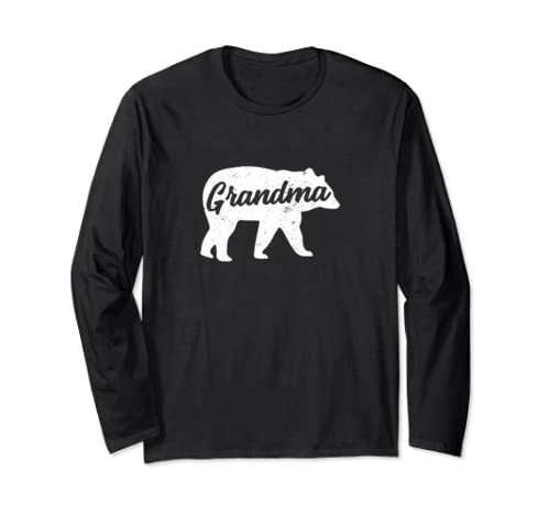 Vintage Grandma Bear Mother's Day Long Sleeve T Shirt