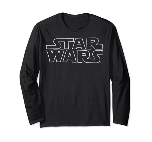 Star Wars Outlined Simple Logo Long Sleeve T Shirt