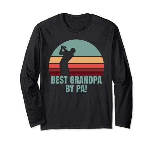 Best Grandpa by Par Funny Grandpa Golf Long Sleeve T-Shirt