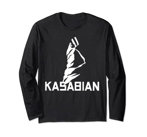 Kasabian Official White Logo Long Sleeve T Shirt