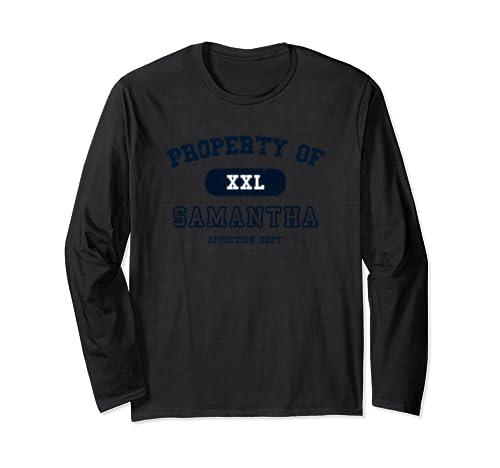 Personalized Custom Property Of Xxl Samantha Tshirt Long Sleeve T Shirt