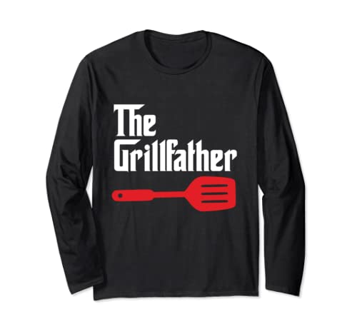 The Grillfather Bbq Grill & Smoker | Barbecue Chef T Shirt Long Sleeve T Shirt