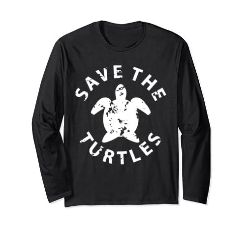 Save The Turtles Tie Dye  Long Sleeve T Shirt