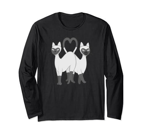 Siamese Love Cats Long Sleeve T-Shirt