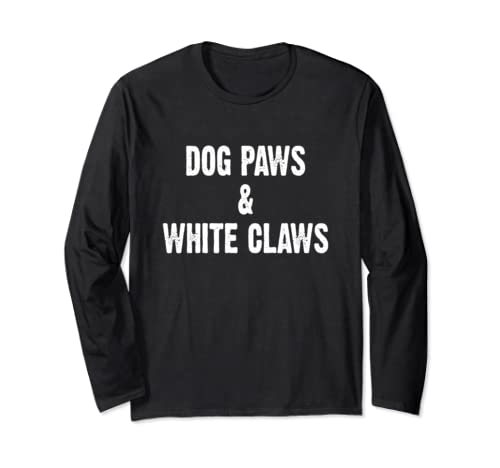 Dog Paws And White Claws Black Long Sleeve T Shirt