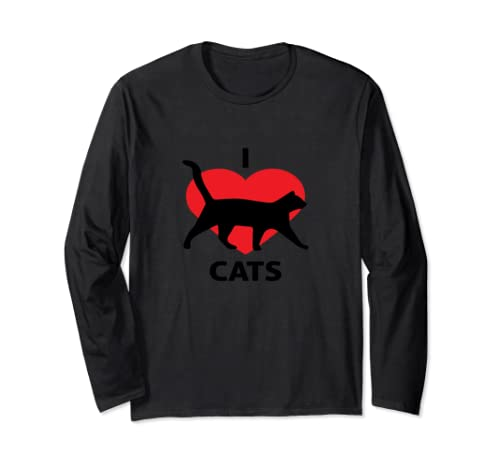 I Love Cats Gift Long Sleeve T-Shirt