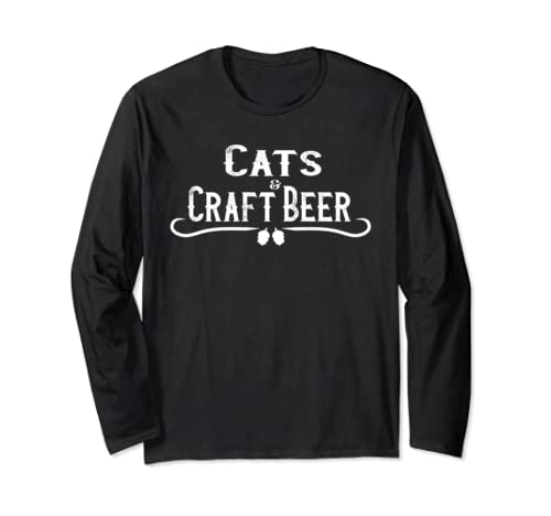 Cats & Craft Beer Hops Brew Ipa Drinkers Gift Long Sleeve T Shirt