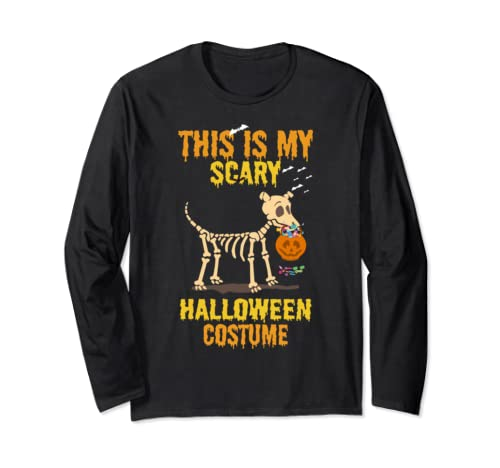 Funny Dog Halloween Costumes Shirt Fun Gifts Dogs Lovers  Long Sleeve T Shirt
