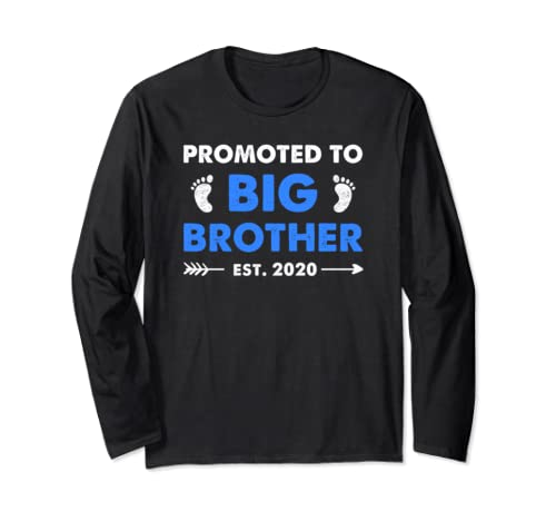Promoted To Big Brother Est 2020 Vintage Arrow Long Sleeve T Shirt