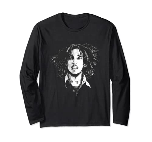 Marley Rasta Black And White For Bob Lover Long Sleeve T Shirt