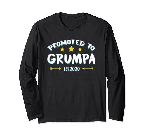 Mens Grumpa Gift Best Granda Ever Perfect Grandpa Gift Idea Long Sleeve T Shirt