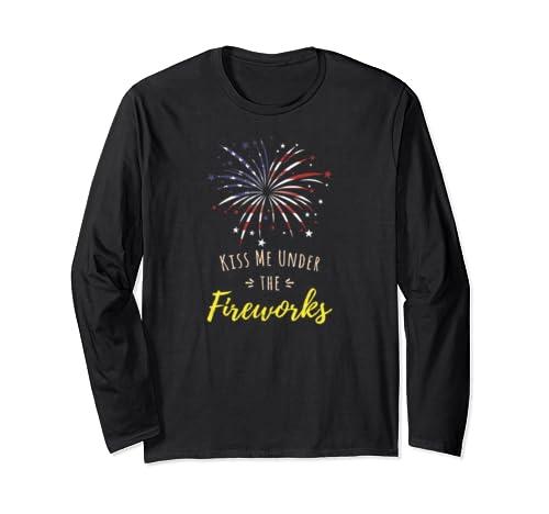 Pyrotechnician Shirt Pyrotechnics | Fireworks Flag Long Sleeve T Shirt