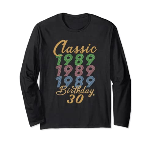 30 Years Classic 1959 Vintage Retro 30th Birthday Gift Long Sleeve T Shirt
