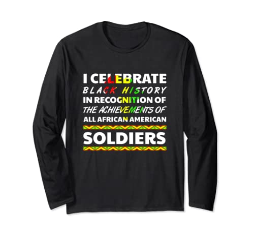 Soldier Black History Month African Roots Ancestry 2020 Long Sleeve T Shirt