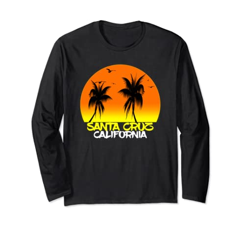Santa Cruz Vintage California Beach Sunset Long Sleeve T Shirt