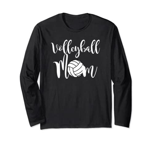 Volleyball Mom Volleyball Mother Game Shirt Mother's Gift Long Sleeve T Shirt