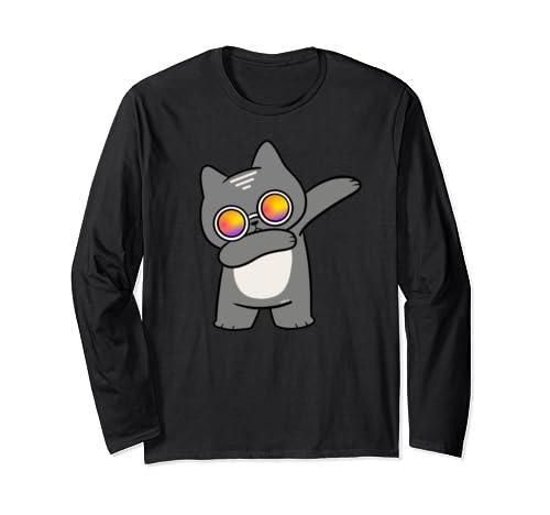Funny Dabbing Cat Dab Cats Long Sleeve T-Shirt