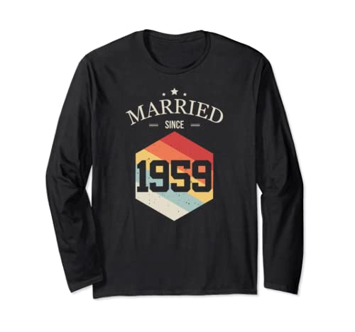 Married since 1959 T-Shirt Valentines Day Couple shirt Long Sleeve T-Shirt
