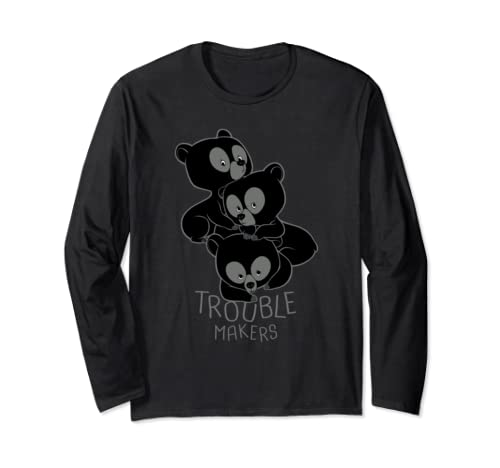 Disney Pixar Brave Bear Cubs Trouble Makers Long Sleeve T Shirt