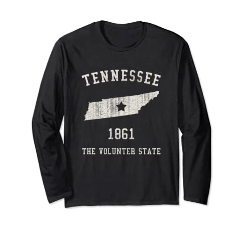 Tennessee The Volunteer State Vintage Long Sleeve T Shirt
