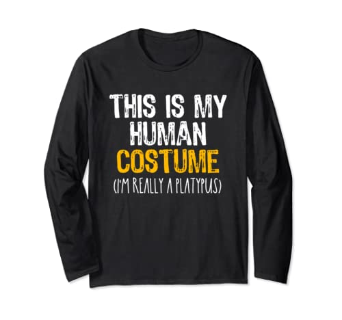 This Is My Human Costume Platypus Halloween Funny Long Sleeve T Shirt
