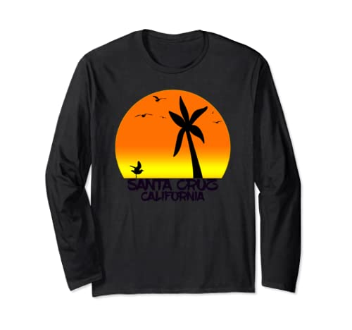 Santa Cruz Vintage California Beach Long Sleeve T Shirt