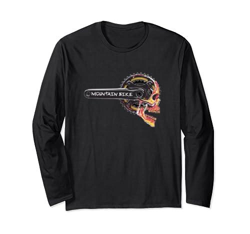 Mtb Mountain Bike Crankset Long Sleeve T Shirt