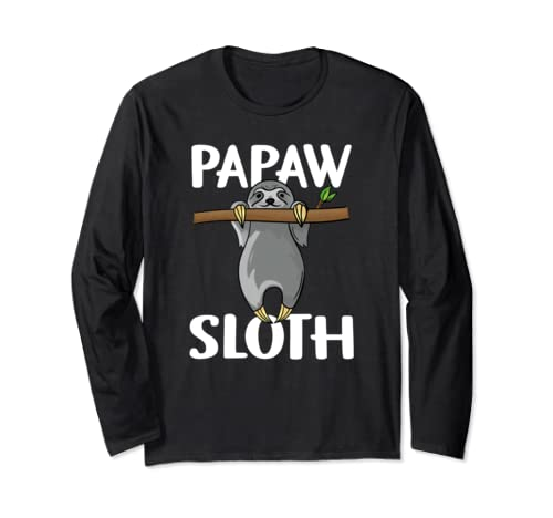 Papaw Sloth Grandpa Father Lover Father's Day Tee Gift Long Sleeve T Shirt