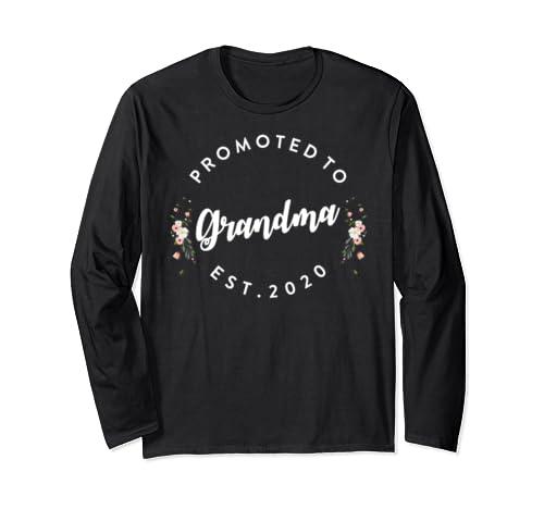 Promoted To Grandma 2020 - Grandma Shirt EST 2020 Long Sleeve T-Shirt