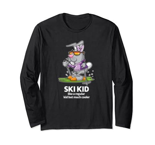Ski Kid Matching Family Skiing Vacation Winter Holiday Gift Long Sleeve T Shirt