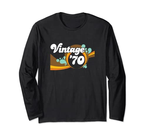 50th Birthday 1970 Vintage Retro 1970s Long Sleeve T Shirt