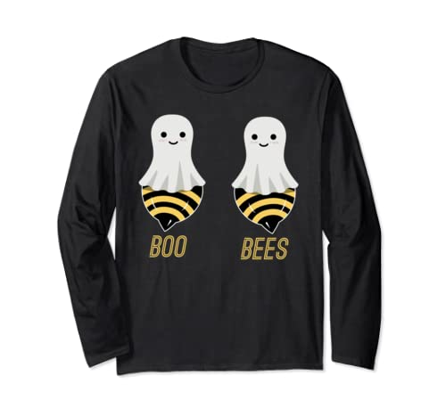 Funny Couples Halloween Costume Boobs Joke Boo Bees Long Sleeve T Shirt
